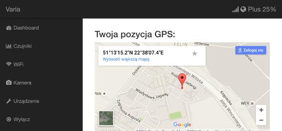 Varia-class device's portal (maps) available through WiFi (iPad)