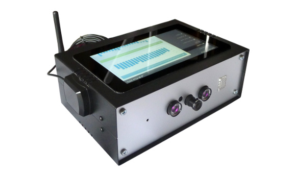 Varia-class demo device with face recognition camera, LTE and WiFi connection, sensors for telemetry and LCD touch screen